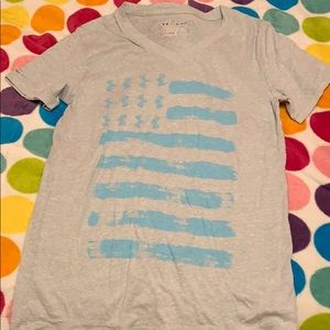 light washed flag under armour t-shirt